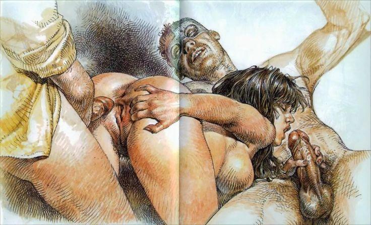 от художников порно рисунки