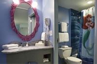 Fun! Little Mermaid building restroom at Disney's Art of Animation hotel.