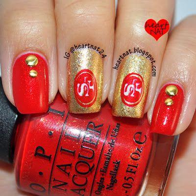 heartnat: San Francisco 49er #nail #nails #nailart