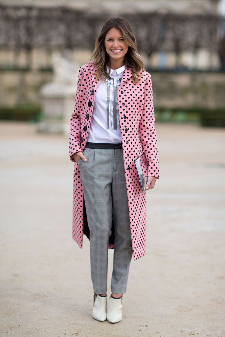 I'm a sucker for a cute, fun and colorful coat!  One of the many things that make me happy on a cold wintery day. #ParisFashionWeek