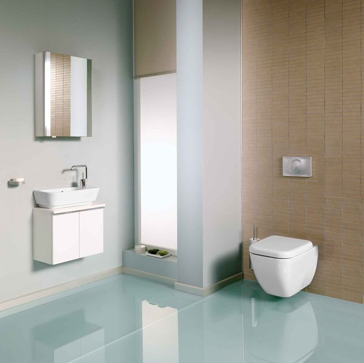 4387 Washbasin, 50 cm, right - 80450 Cloakroom unit, 50x25x40cm, white - 4392 Wall-hung WC pan - 91-003-009 Toilet seat