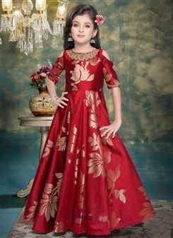 f6ff57e5 Red Silk Kids Gown Online Shopping. Designer kids clothing online shopping  at wholesale prices