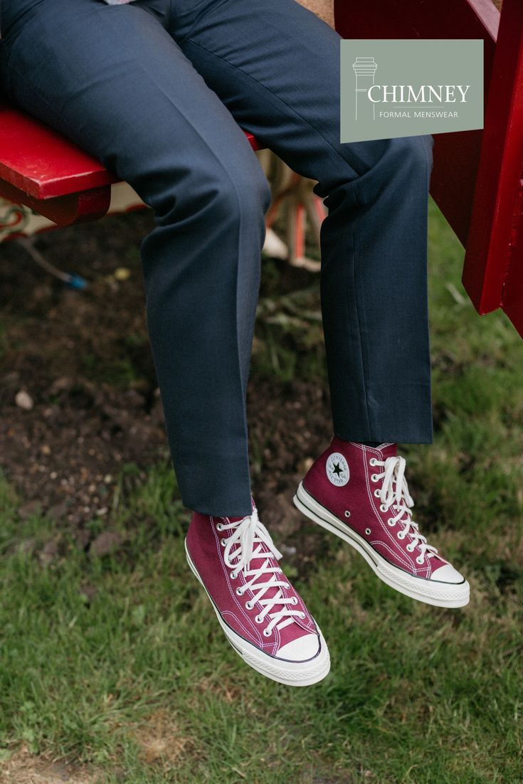 converse red style
