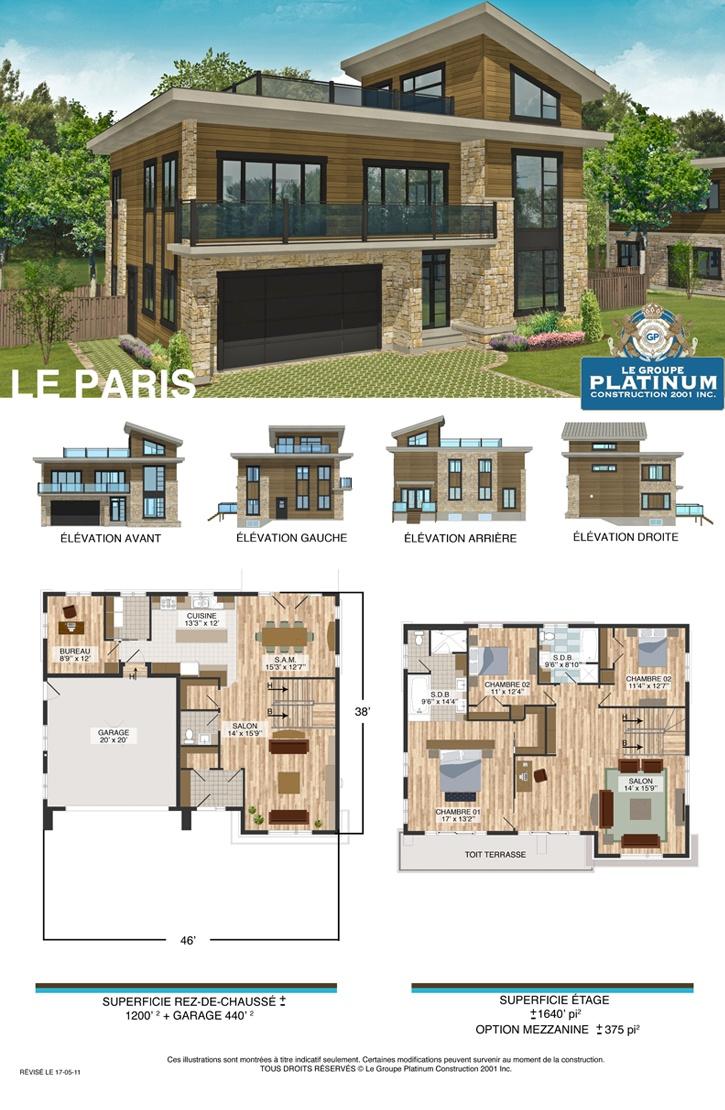 Paris house plan