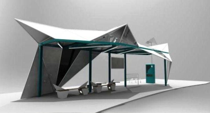 Sail bus shelter design by_a551 Kwek Rui Kiat-Public Space Ideas