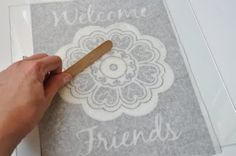etched glass art and a silhouette trace tool tutorial