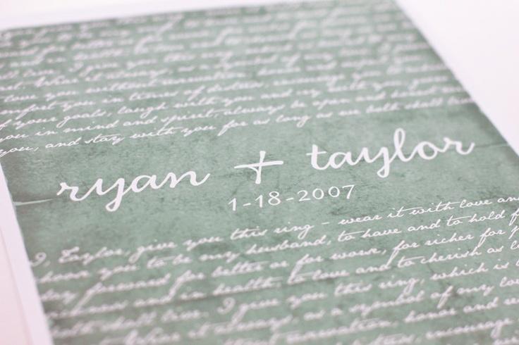 Wedding Vow Gifts: Best 25+ Wedding Vow Art Ideas On Pinterest