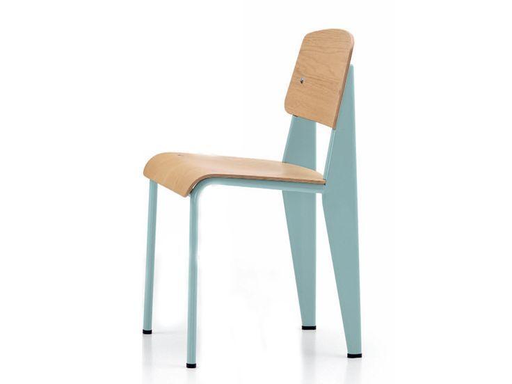 Steel Steel Chair Standard Chair Vitra Jean Prouve Steel Chair Standard Chair Vitra Jean Prouve Designdebure Houten Stoelen Stoelen Eetkamerstoelen