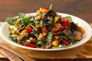 Roasted Fall Vegetable Salad This robust salad tastes great served either warm or chilled.