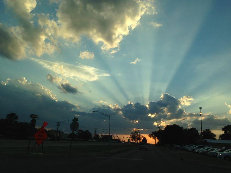 Sunset in Muskogee..