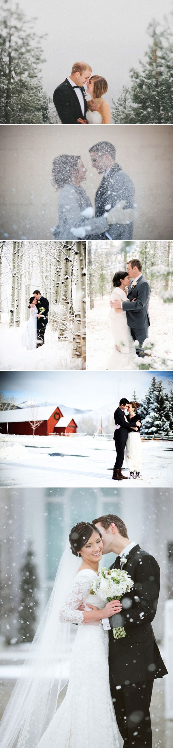23 Dreamy Winter Wedding Photos