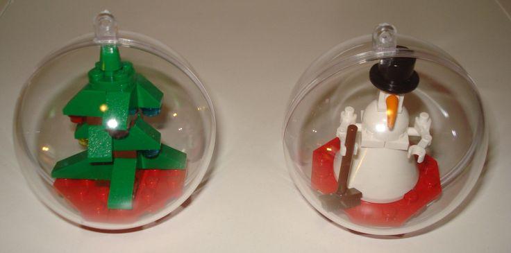 Lego Advent Calendar Christmas ornaments -- finally a use for those 24 teeny tiny Lego sets