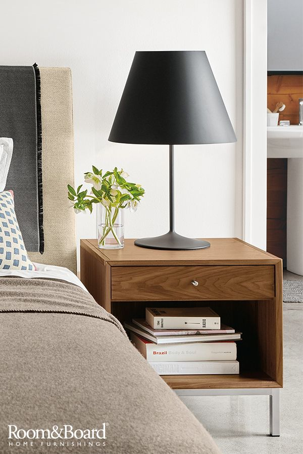 Refresh your bedroom by adding new nightstands to your space. The simple, clean look of our Delano nightstand is a tribute to mid-century modern design