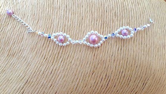 Flower Girl Bracelet - Bridesmaids Bracelet - Wedding Accessories - Bridal Jewel £12.50