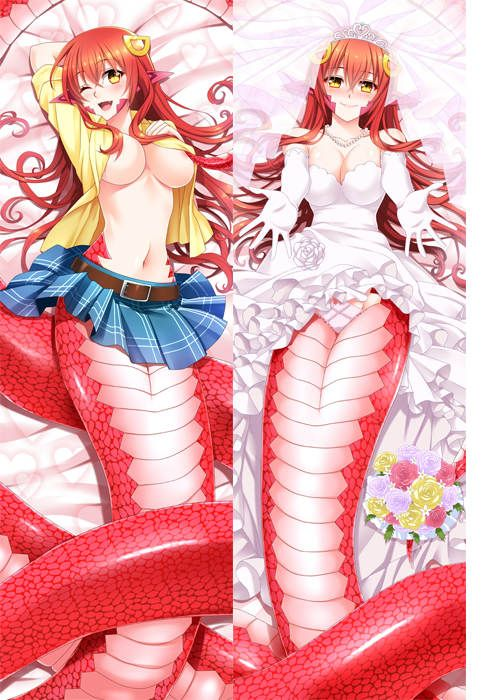 monster musume no iru nichijou anime Characters miia & papi & tionishia pillow cover centaurea shianus & suu body Pillowcase #Affiliate