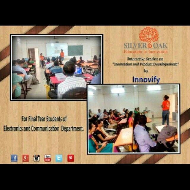 Interactive session by Innovify @socetcampus. #educationtoinnovation #knkwledgeispower #silveroakcollege #silveroak #ahmedabad