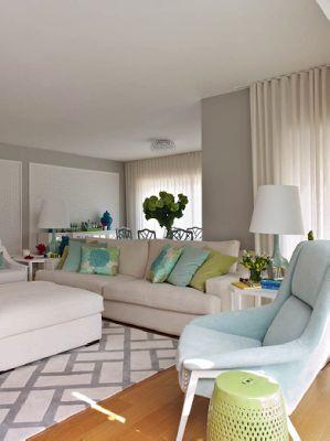 Maria Barros · Aqua DecorRiver HouseApartment IdeasFresh Living RoomHome  IdeasPastelsGrey WallsLight ColorsZig Zag Part 82