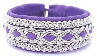 Bracelet in #lilac #leather from the #Swedish #jewelry #brand #AC Design