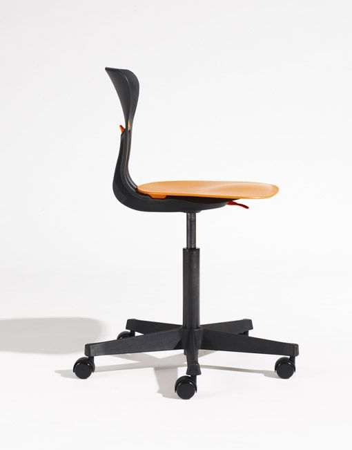 Silla ergonómica con ruedas naranja juvenil. Designers in-home. Muebles de diseño y decoración, accesorios para el hogar, mobiliario infantil, iluminación.