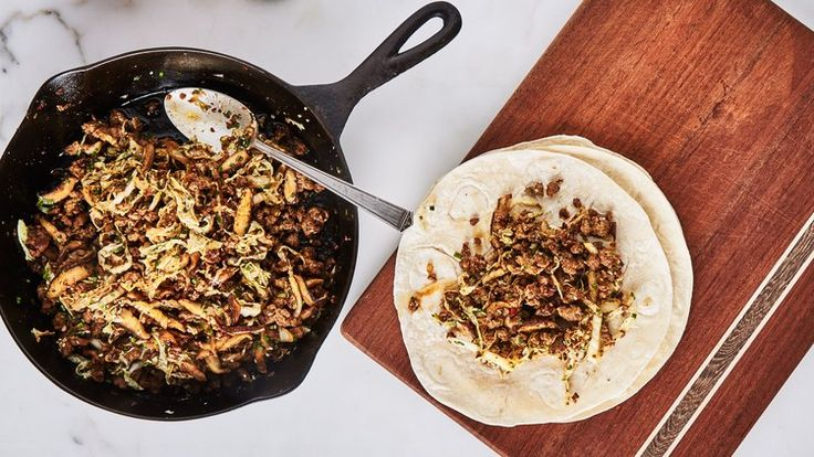 One-Skillet Hot Sausage and Cabbage Stir-Fry with Chives | Bon Appetit