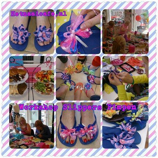 Workshop slippers pimpen www.hetnaaicafe.nl