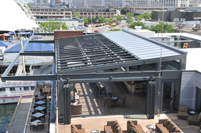 In System Skylights : Pool enclosure commercial restaurant