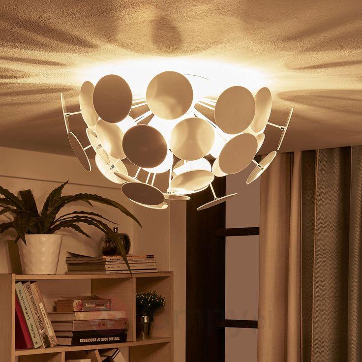 Biała lampa sufitowa Kinan o pięknej formie 9621166