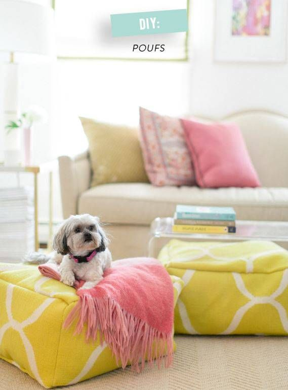 DIY Floor Poufs | Top 10 Pinterest Pins