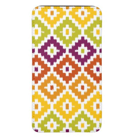 Colorful Aztec Tribal Print Ikat Diamond Pattern