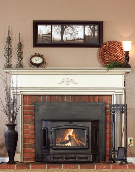These extremely efficient wood-burning fireplace inserts turn your fireplace  into a miniature furnace, complete with electric blower! check out the  brick ... - Best 25+ Wood Burning Fireplace Inserts Ideas On Pinterest Wood