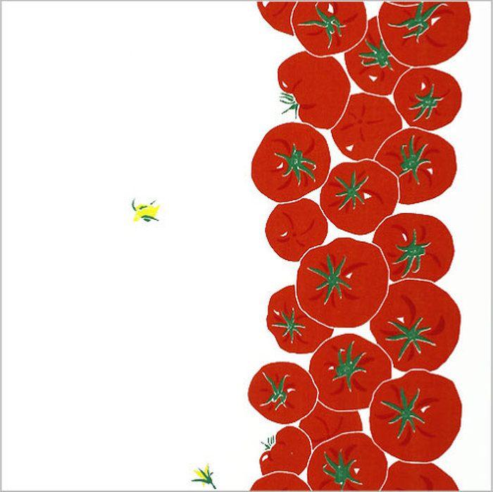 手ぬぐい「まっかなトマト」