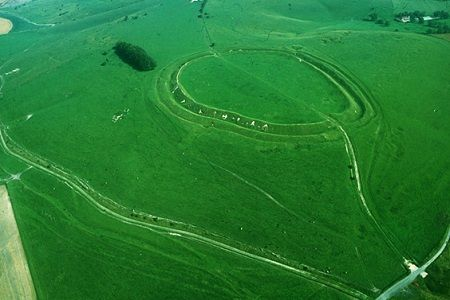 Barbury Castle is one of the most impressive of the 35 hillforts we have in the Wiltshire and Swindon area, with panoramic views that take in the Marlborough Downs and the Vale of Pewsey. It dates to the Iron Age, constructed around 700 BC and likely continuously occupied until the mid 1st Century AD and the Roman Invasion.