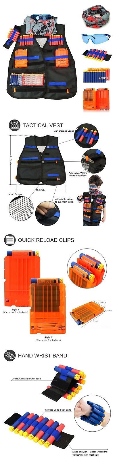 Dart Guns and Soft Darts 158749: Tactical Vest Kit For Nerf Guns N-Strike Elite Series Free Shipping, New -> BUY IT NOW ONLY: $37.86 on eBay!