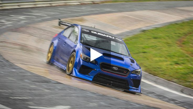 Tuned Subaru WRX STI sets new four-door sedan Nurburgring lap record #Subaru #Nurburgring