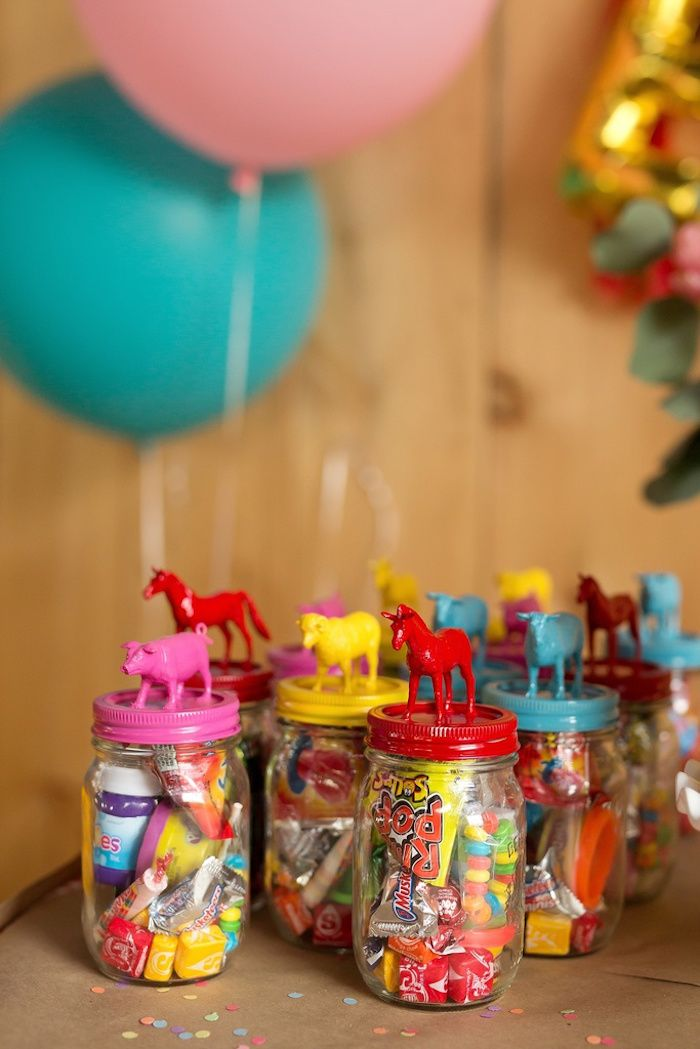 Party favors from Glam Barnyard Birthday Bash at Kara's Party Ideas. See all the…