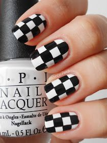 Marce7ina's Nai7 Art: Checkered nails