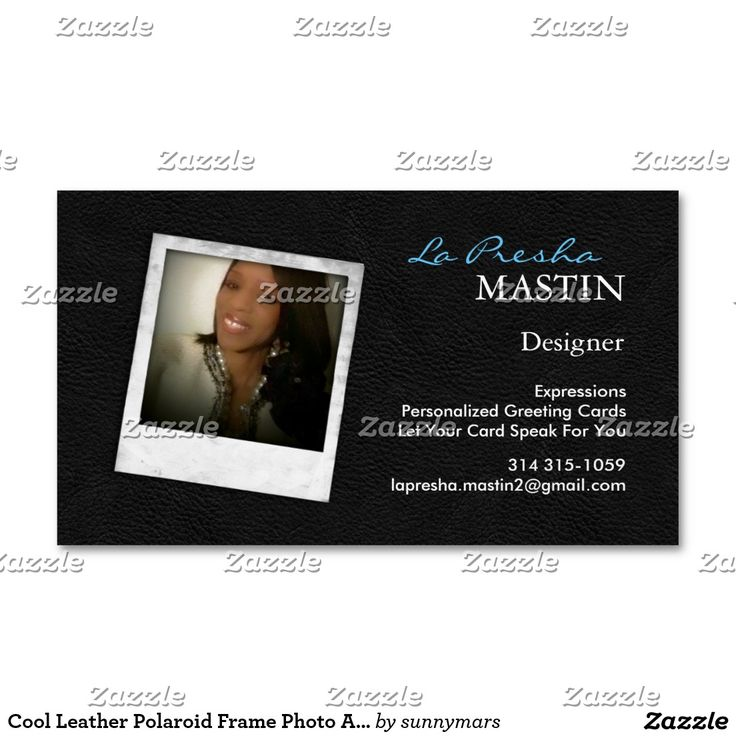 Cool Leather Polaroid Frame Photo Actor Magnetic Magnetic Business Card