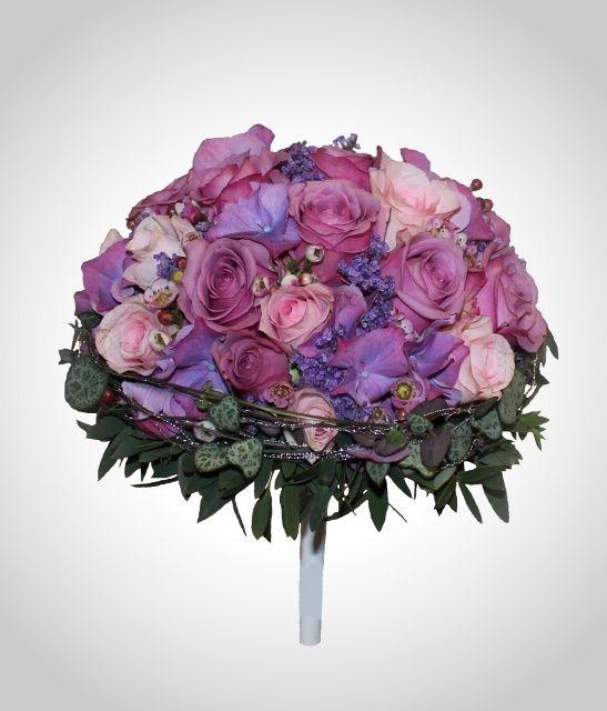 Brudebukett i Lilla rosa toner