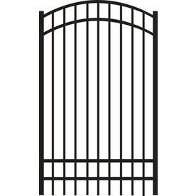 FREEDOM 6 Ft X 4 Ft Black Aluminum Fence Gate $281