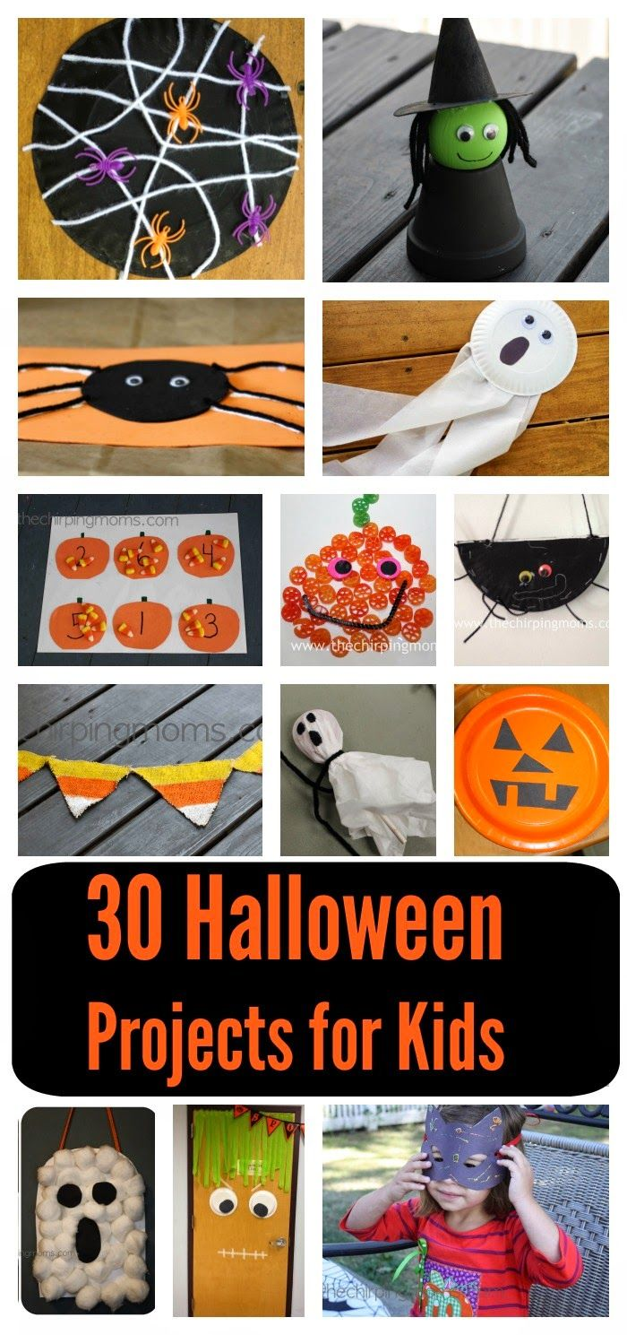 30 Halloween Projects For Kids || The Chirping Moms
