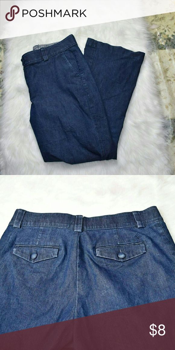 Super Cute Dark Wash Straight Cut Jeans In excellent condition Pants