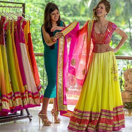#Brides favorite, their never ending wedding Shopping !#Lehanga #Weddingplz #Wedding #Bride #Groom #love # Fashion #IndianWedding  #Beautiful #Style