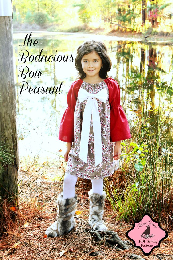 Peasant dress sewing pattern for Christmas