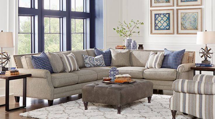shop for affordable sectional living room sets at rooms to go furniture find a variety