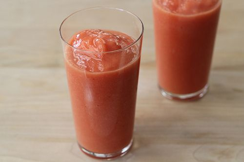 Strawberry Mango Lemonade Smoothies Recipe. Made with coconut water, mango, strawberries and Meyer lemon.: Smoothie Recipes, Vitamix Recipes, Recipes Beverages, Gloria Recipes