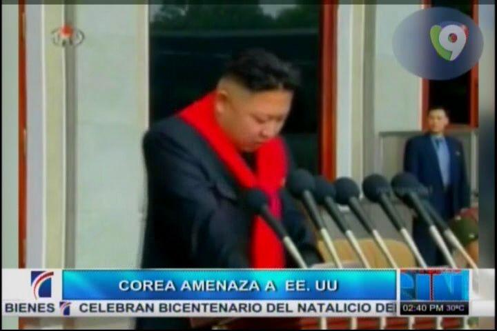 Corea Del Norte Amenaza A EE.UU. #Video
