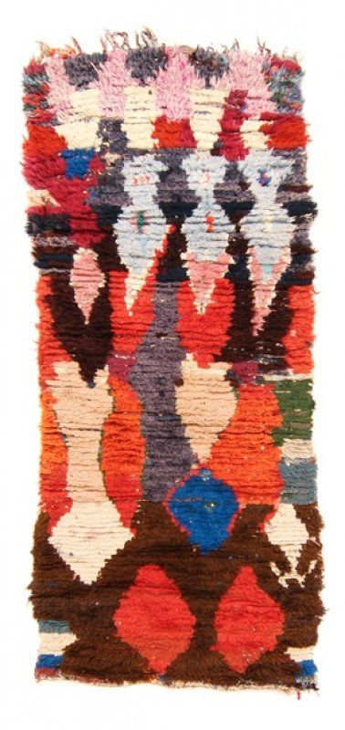 Marokkaanse Berber tapijt Boucherouite 215 x 90 cm