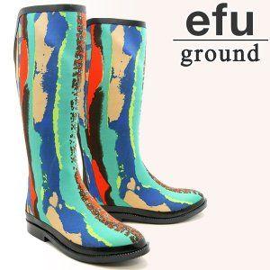 Amazon | (エフグラウンド) efu ground レインブーツ レインシューズ 天然抗菌素材 合成ゴム ef440tye ブランド (S) [並行輸入品] | レインシューズ