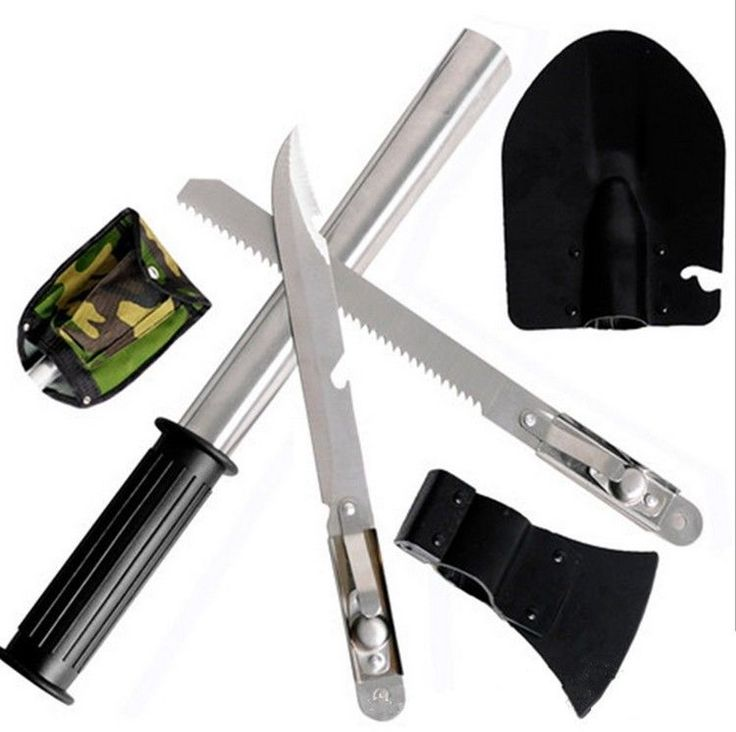 Outdoor Camping Tools Kit/Set Hiking Survival Knife tool Multi-purpose 4-in-One  #new