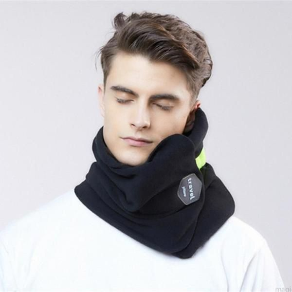 portable travel pillow scarf with